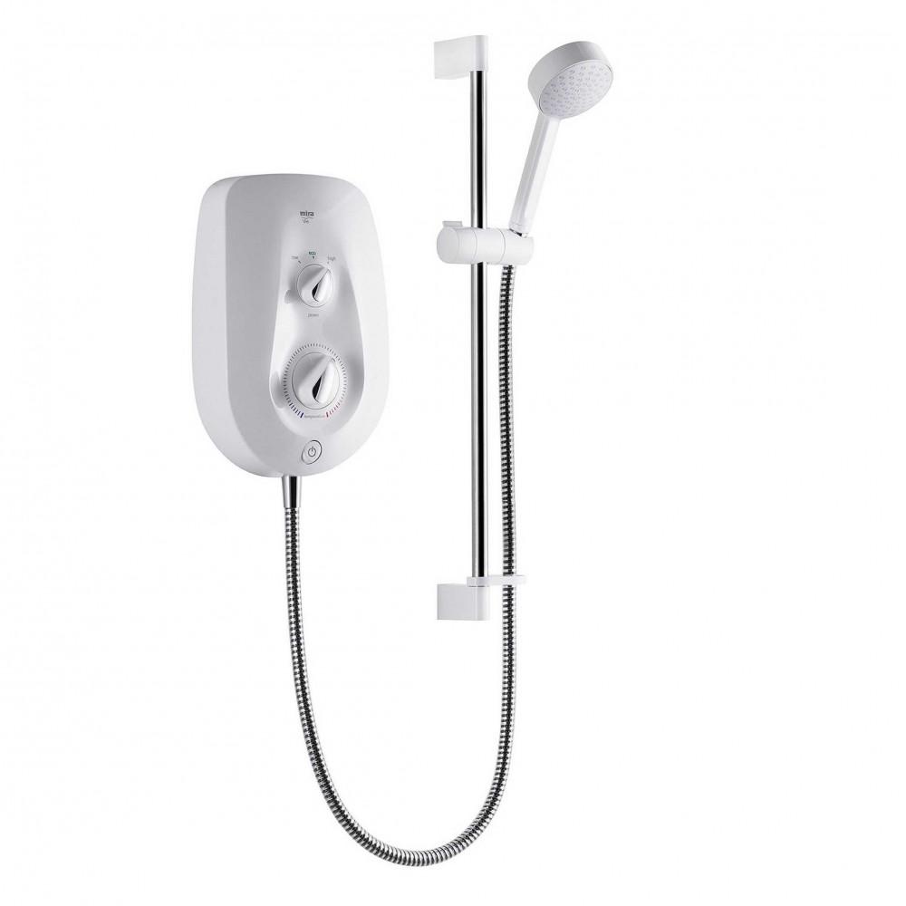 STY-Mira Vie Electric Shower 9.5kw White & Chrome-1