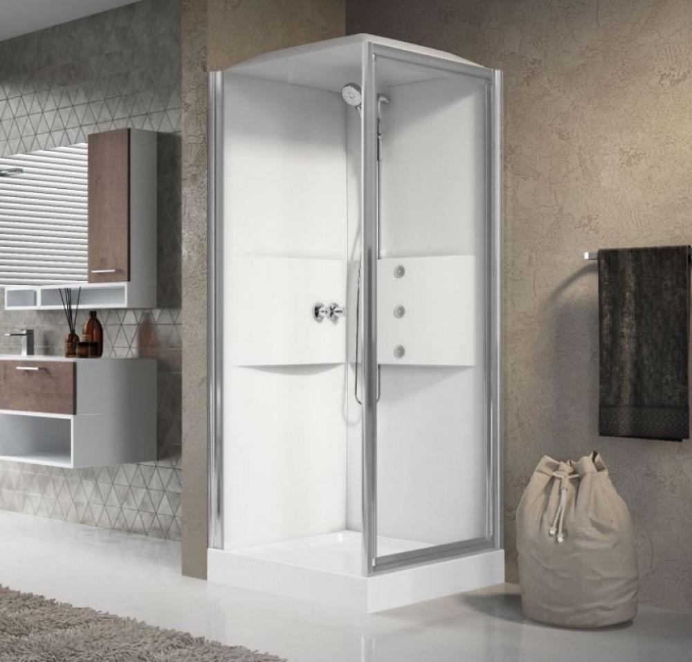 Novellini 800mm Media Pivot Shower Cubical, Tray