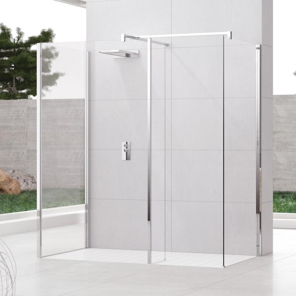 Novellini Kuadra H10 1300mm Depth Walk in Shower Enclosure