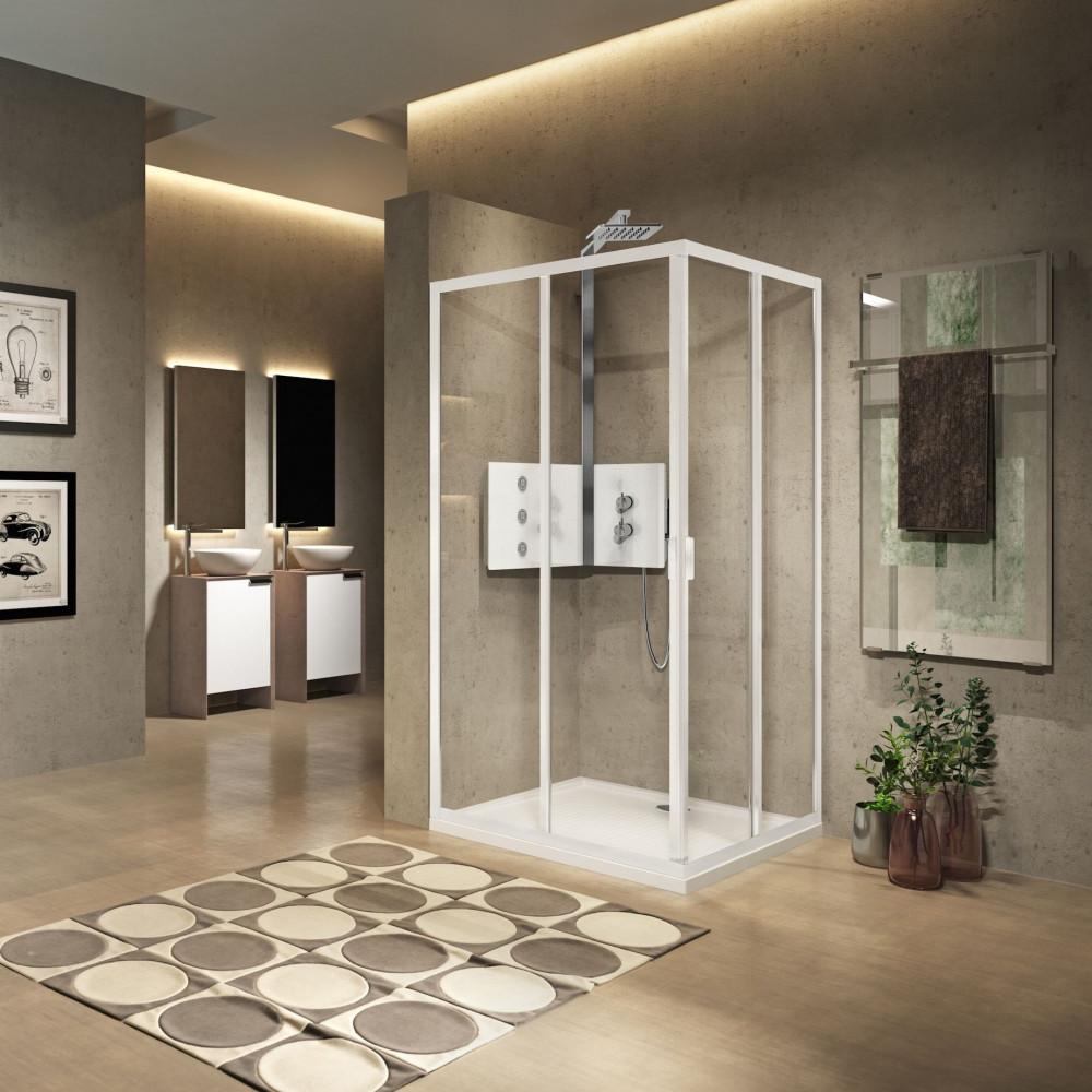 Novellini Lunes 2.0 A 800mm Corner Entry Shower Enclosure