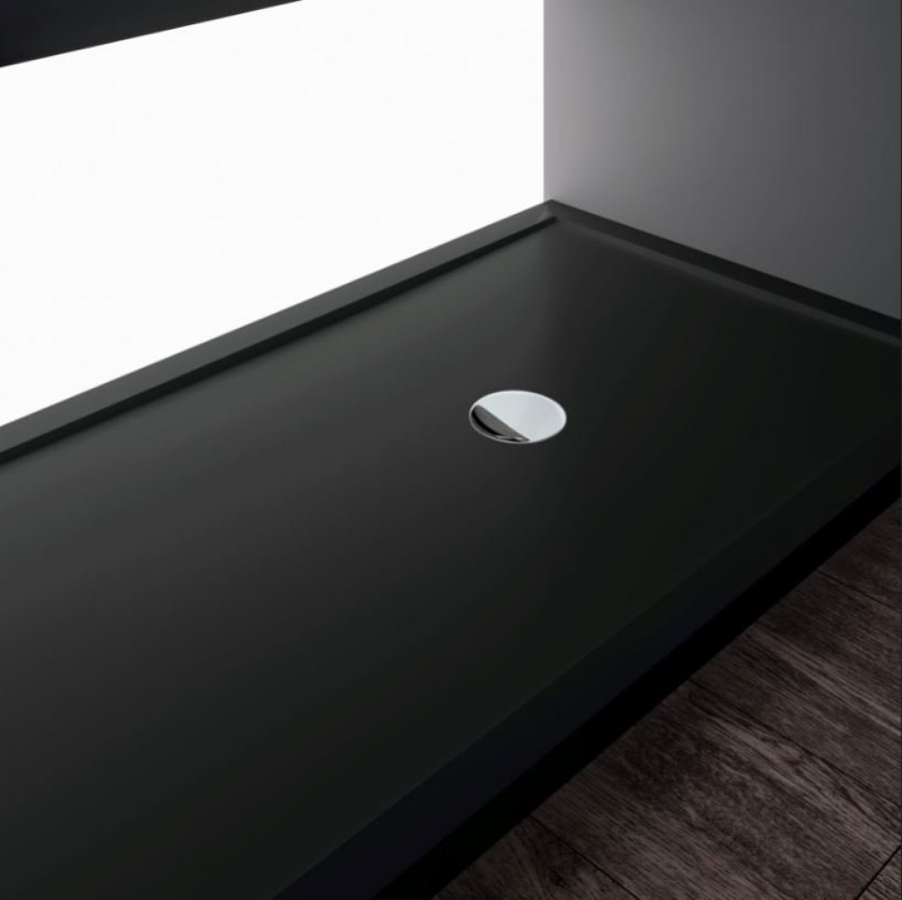 Novellini Olympic Plus Shower Tray 1200mm x 1000mm , black finish