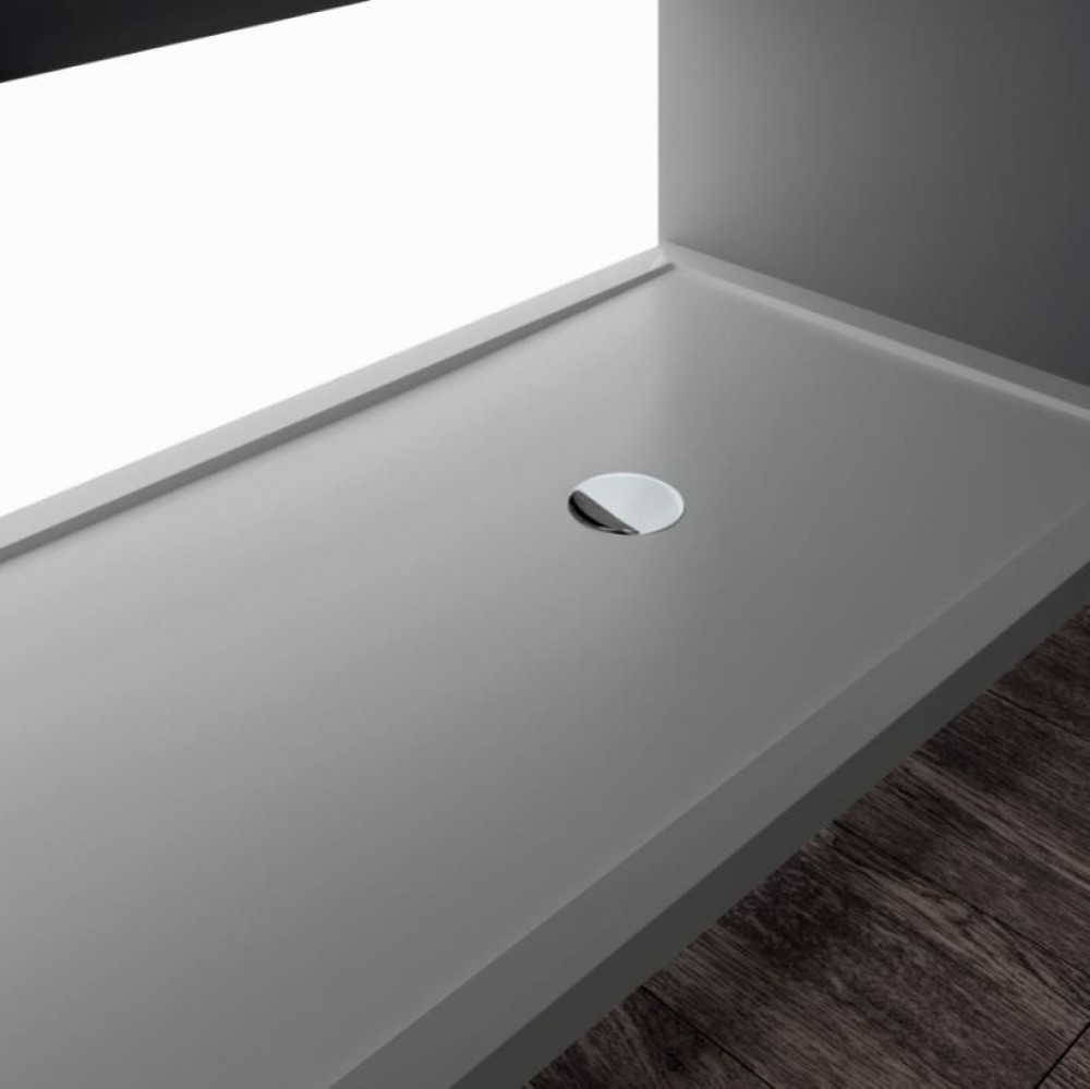 Novellini Olympic Plus Shower Tray 1400mm x 800mm Grey Finish