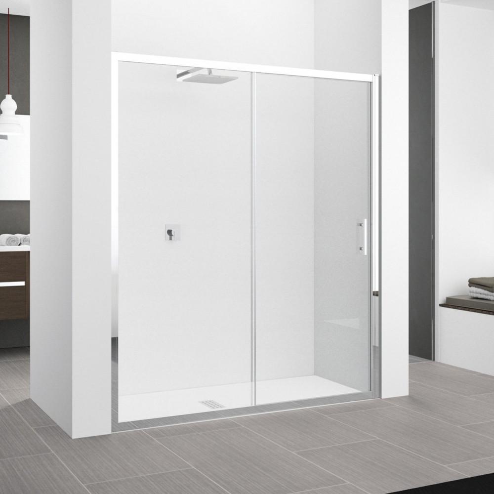 Novellini Zephyros 2P 1700mm Sliding Shower Door Chrome Finish