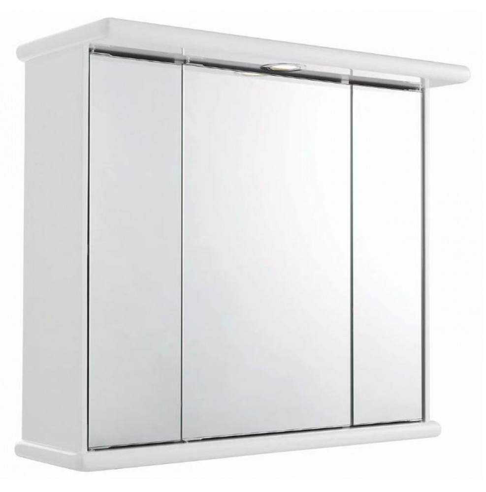 Premier Cryptic Mirror Cabinet with Light, shaver and clock LQ375