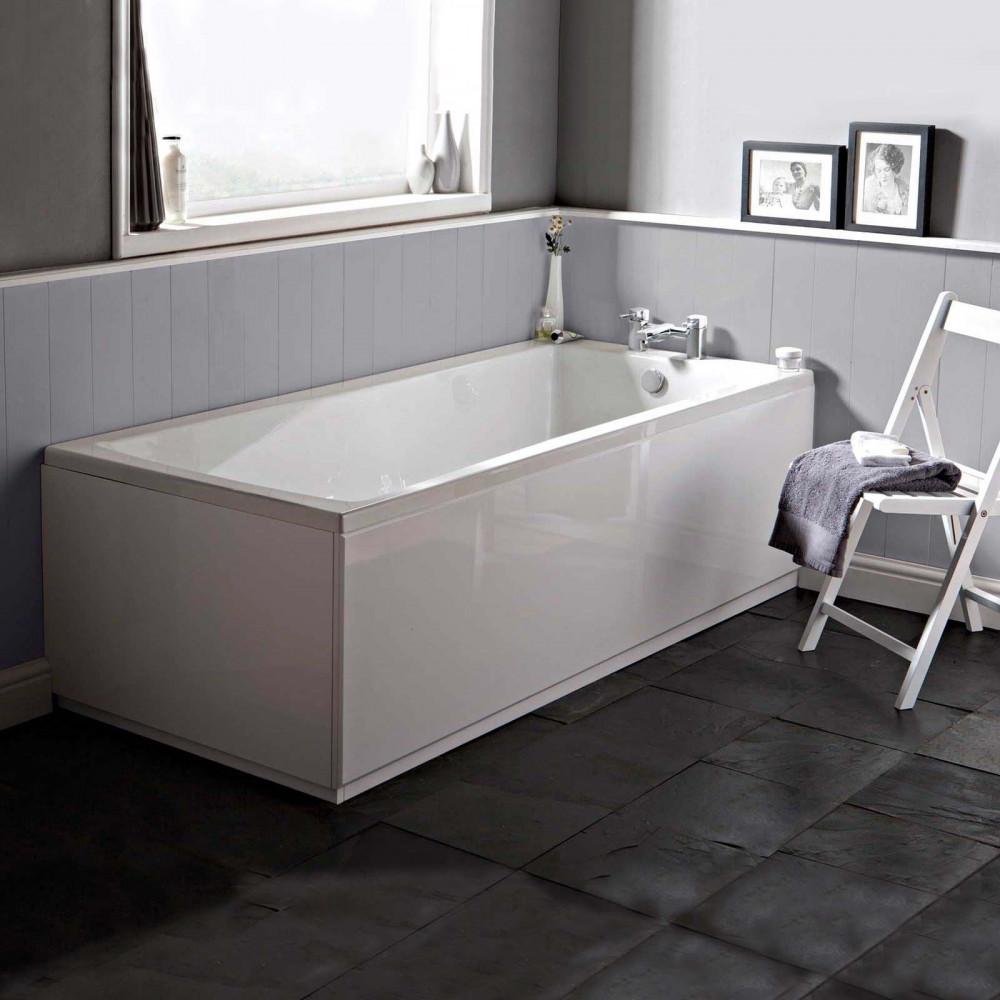 Premier Linton 1700 x 700mm single ended square bath