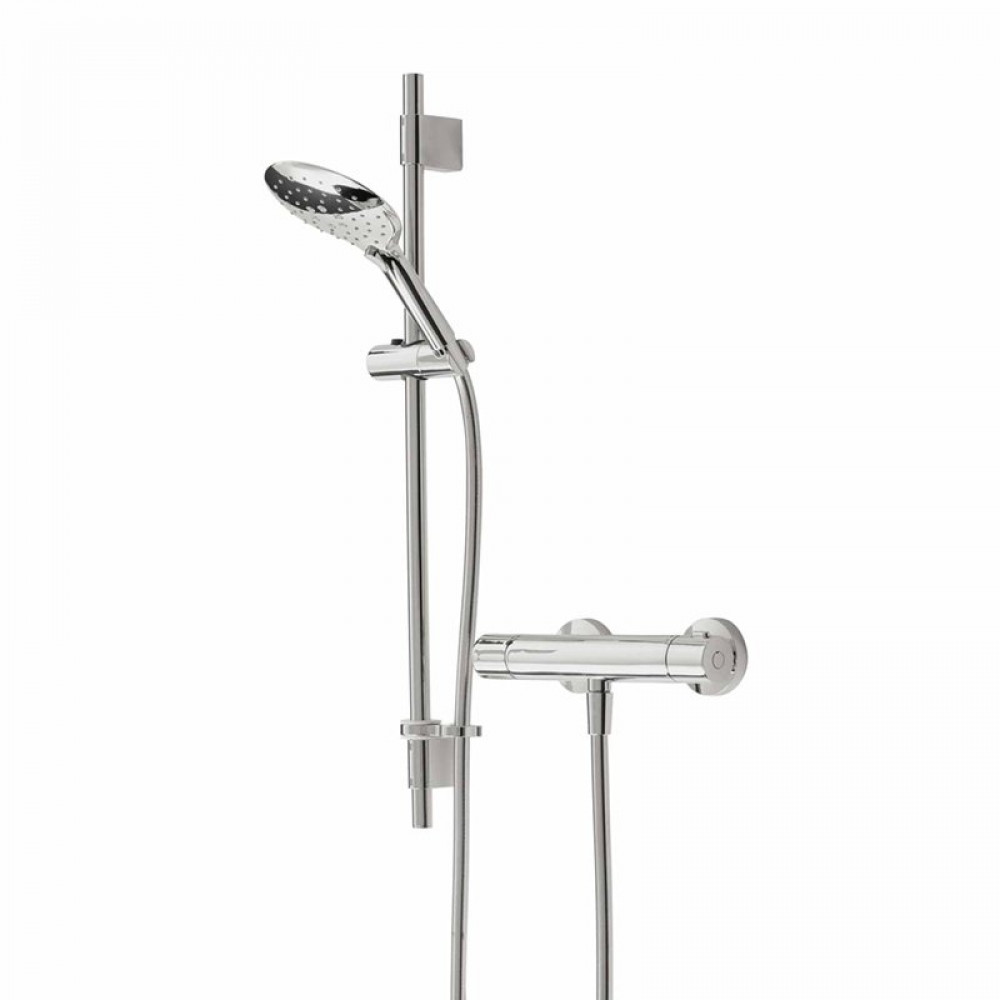 Bristan Quest Exposed Sequential Chrome Shower Valve with Adjustable Riser Kit