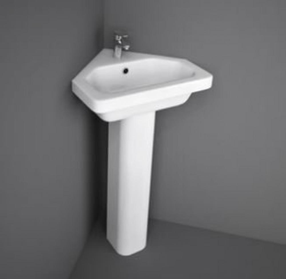 Rak Resort 450mm Corner Basin and Full Pedestal