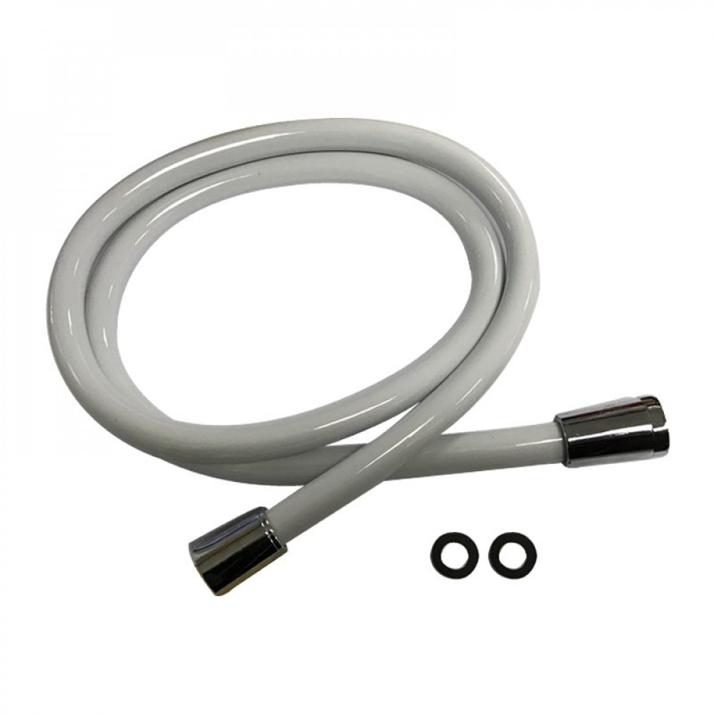 Redring 1.25 metre white shower hose
