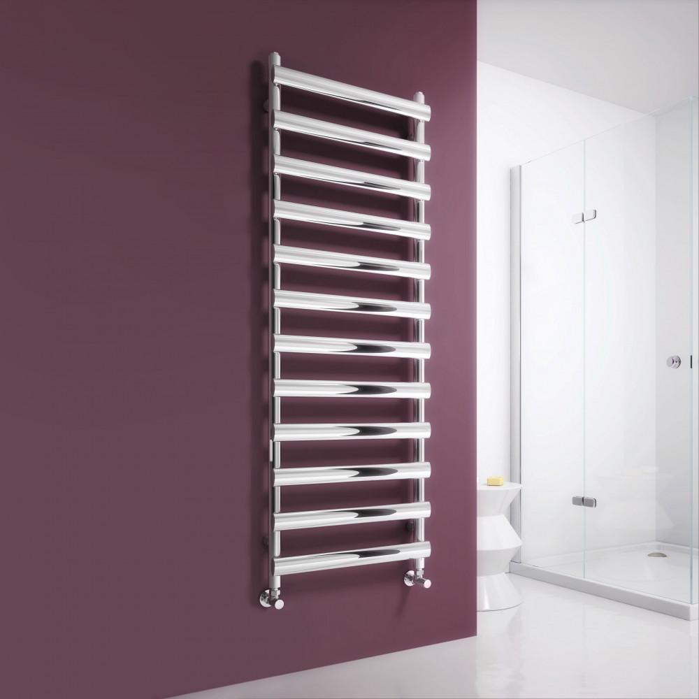 Reina Deno Brushed Stainless Steel Towel Radiator 1488 x 500mm