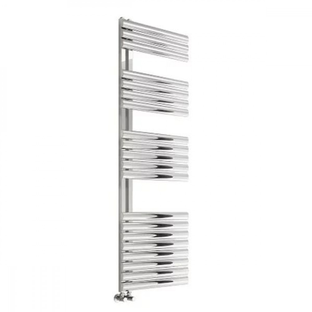 Reina Scalo 1120 x 500mm Brushed Stainless Steel Towel Radiator