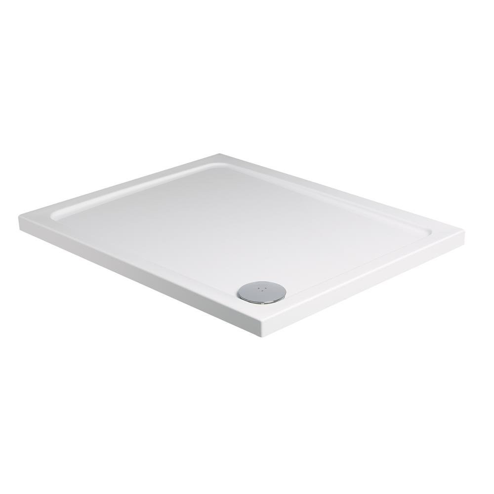 Roman Acrylic Capped Stone 1200 x 900mm Rectangle White Gloss Shower Tray