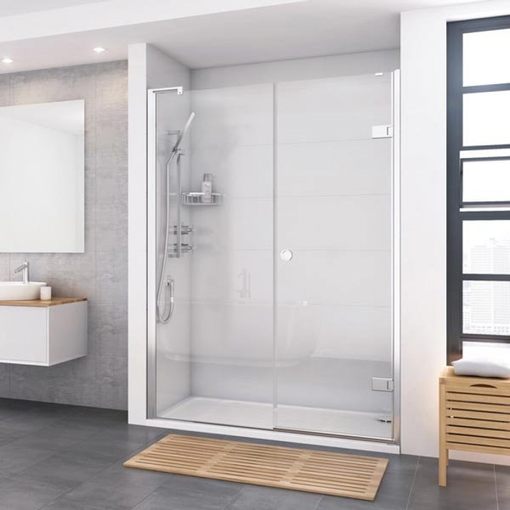 Roman Decem Inward Opening Hinged Shower Door Inline