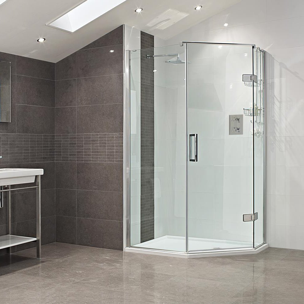 Roman Decem Neo Angle Shower Enclosure 1200 X 900 Right
