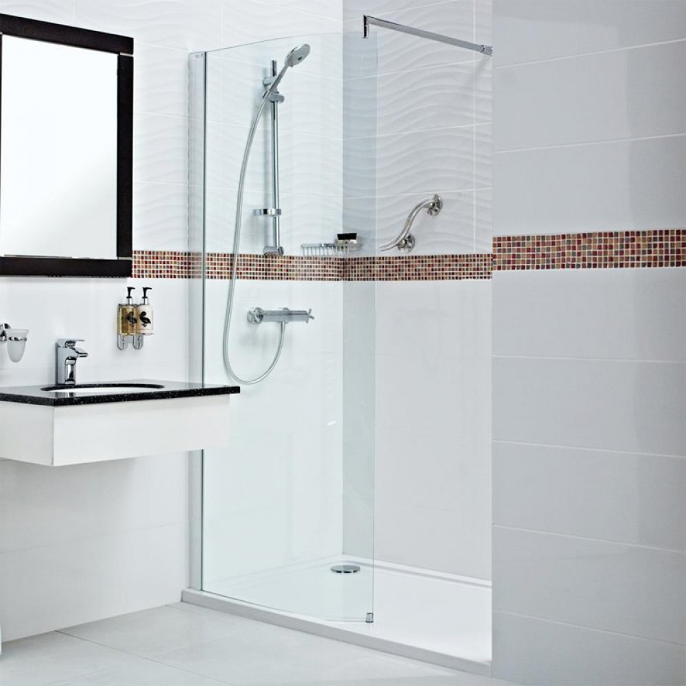 Roman Embrace 800mm Curved Wetroom Panel