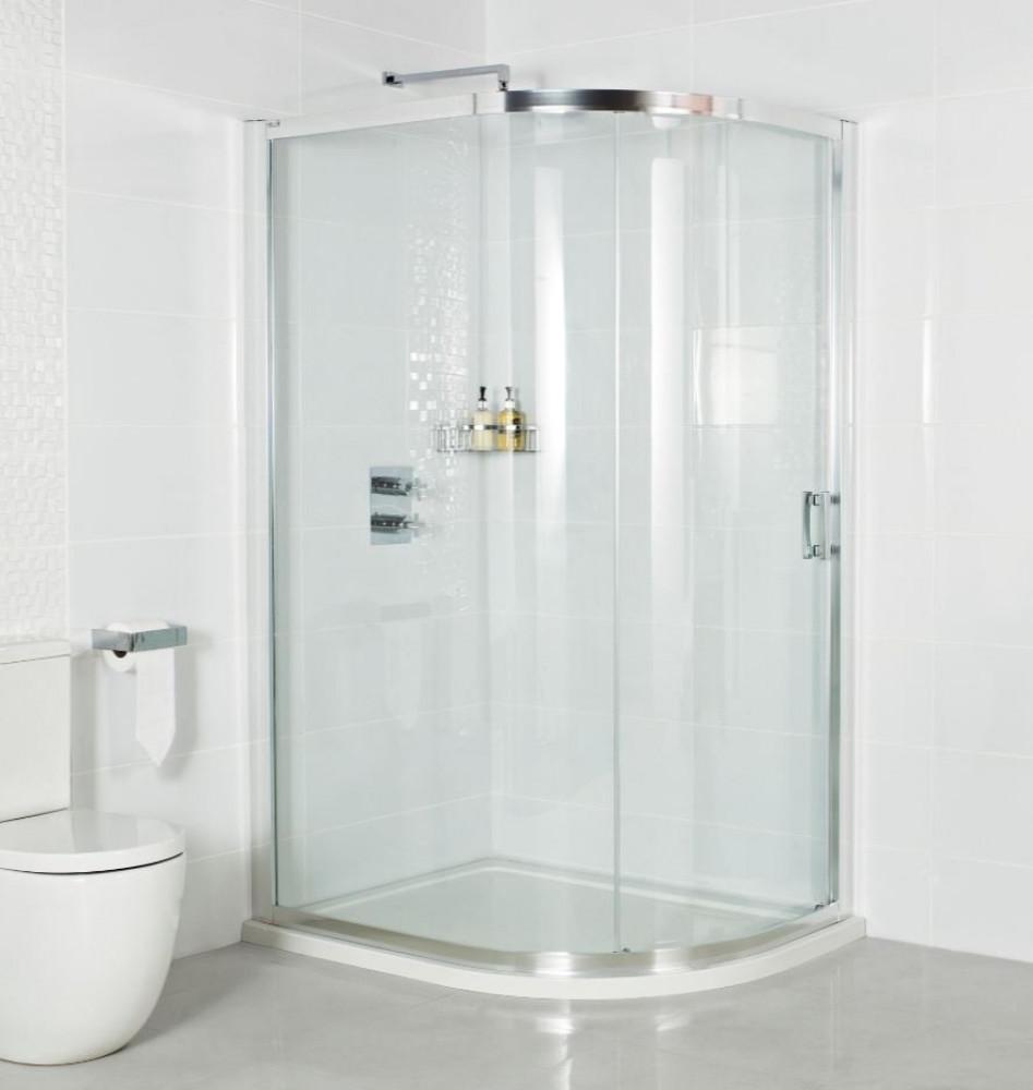 Roman Embrace 800 x 900mm One Door Offset Quadrant Shower Door