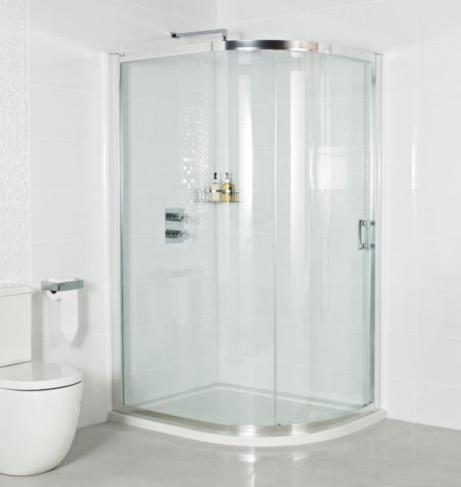 Roman Embrace One Door Offset Quadrant Shower Door 800 x 1200mm