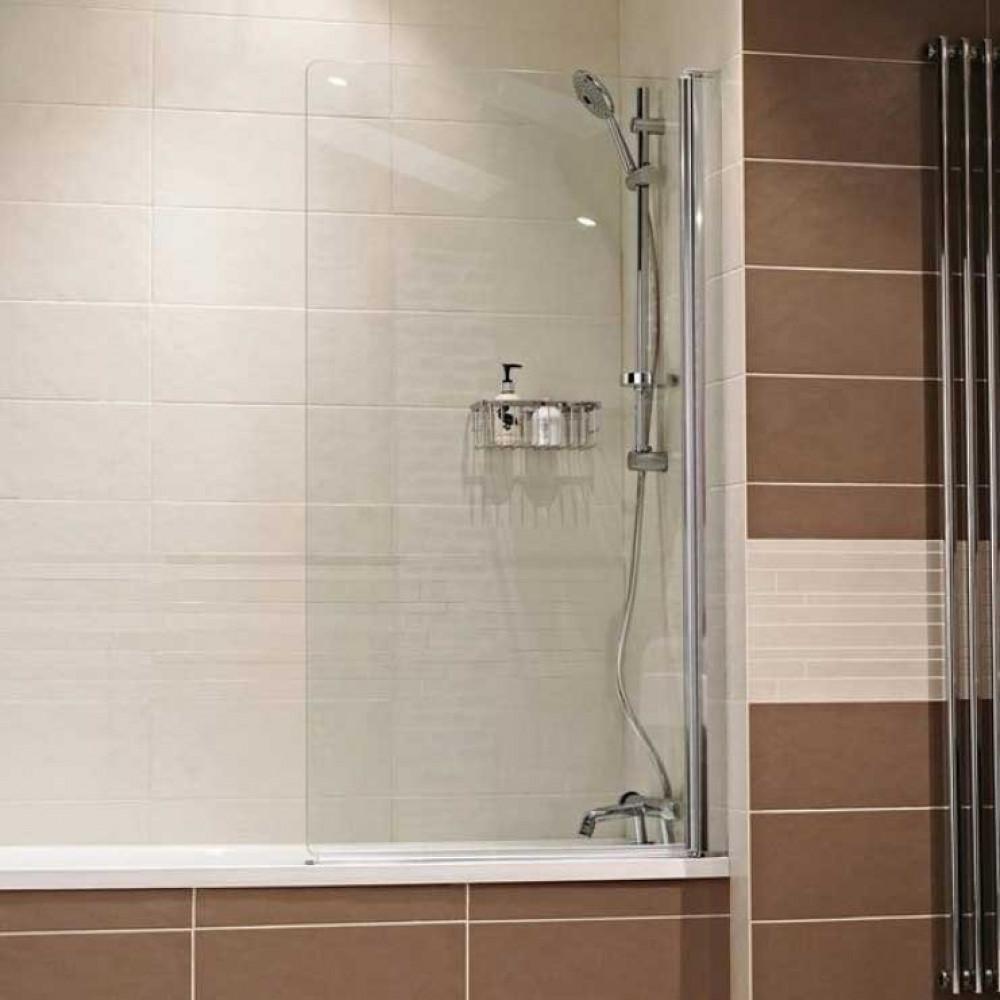 Roman Lumin8 frameless bath screen V8B13S