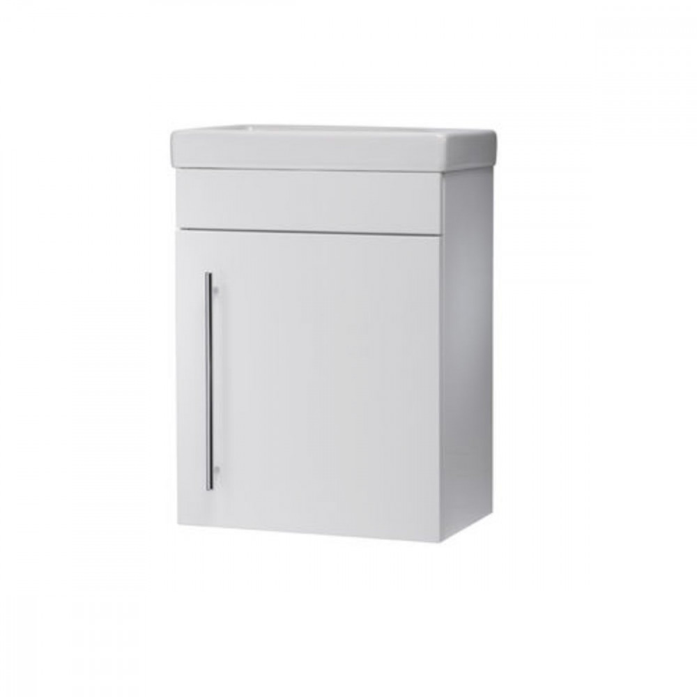Roper Rhodes Esta 450mm Gloss White Wallmounted Vanity Unit With Basin