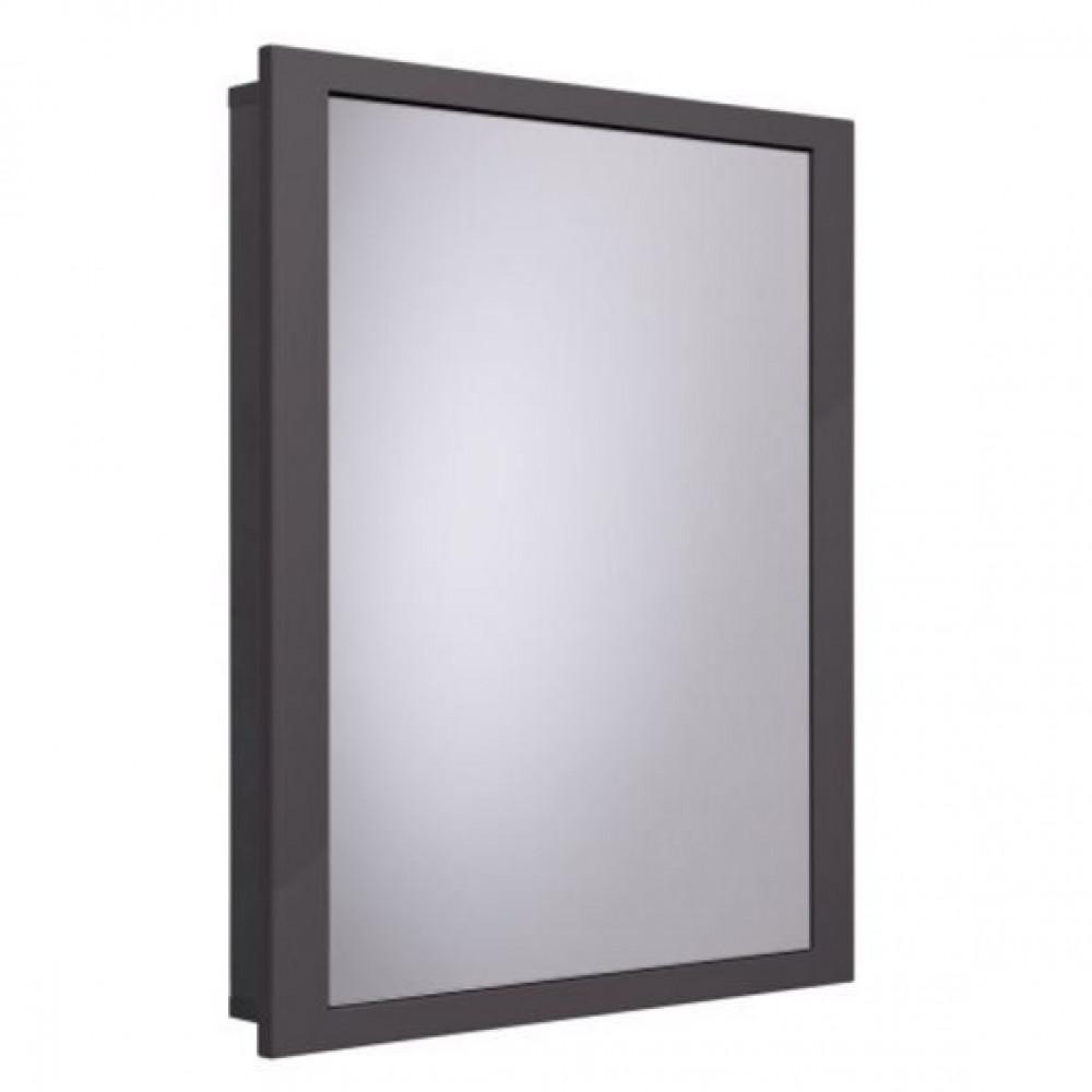 Roper Rhodes Scheme 640mm Single Door Recessed Cabinet for Stud Walls in Gloss Dark Clay