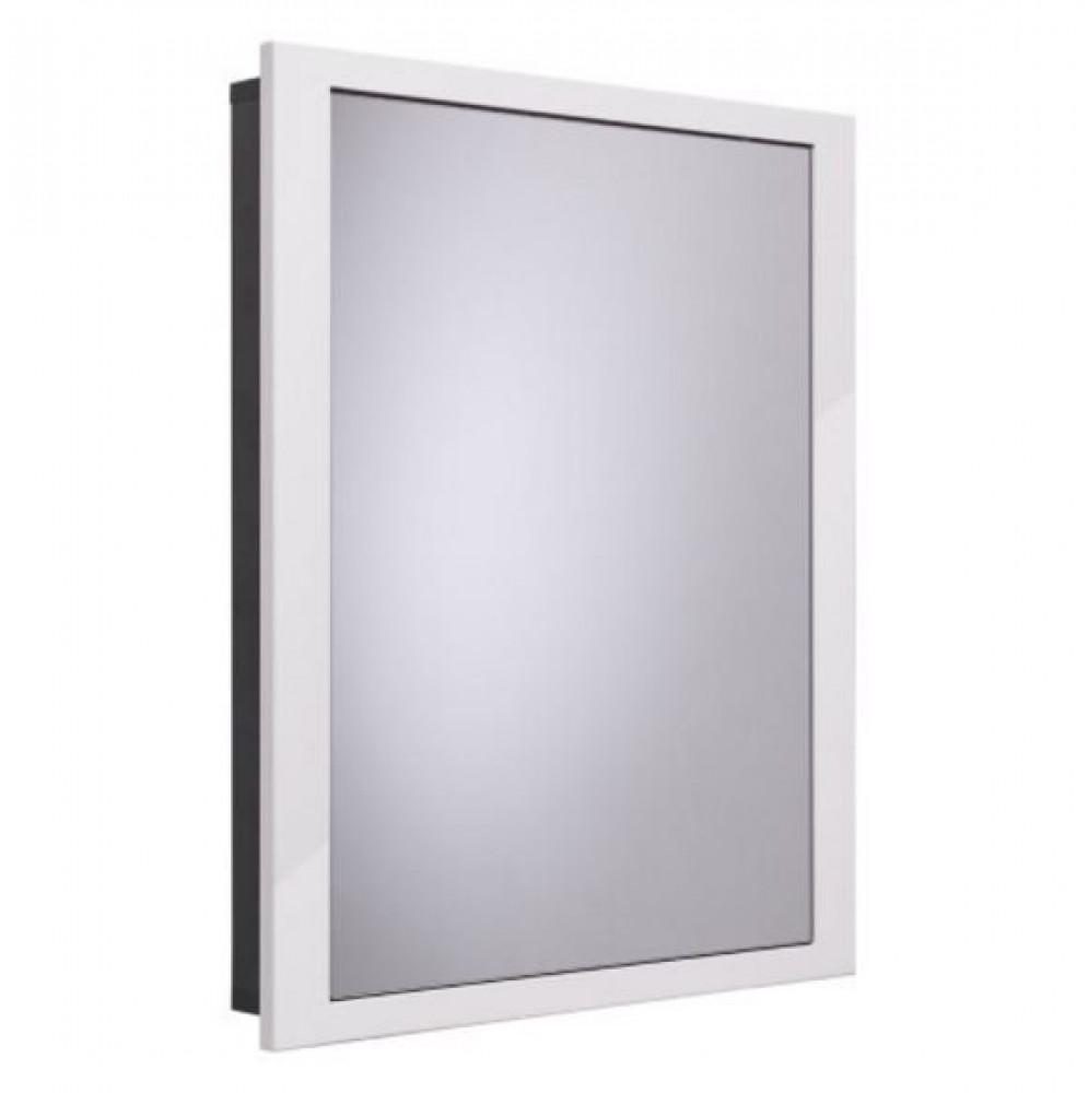 Roper Rhodes Scheme 640mm Single Door Recessed Cabinet for Stud Walls in Gloss White