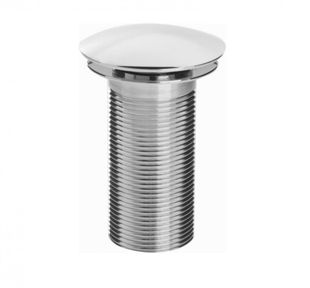 Round Clicker Basin Waste with Clicker RD Chrome Plated Unslotted
