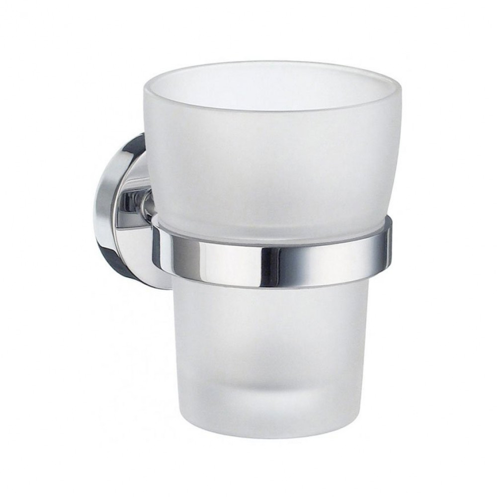 Smedbo Home Tumbler Holder & Frosted Glass Tumbler