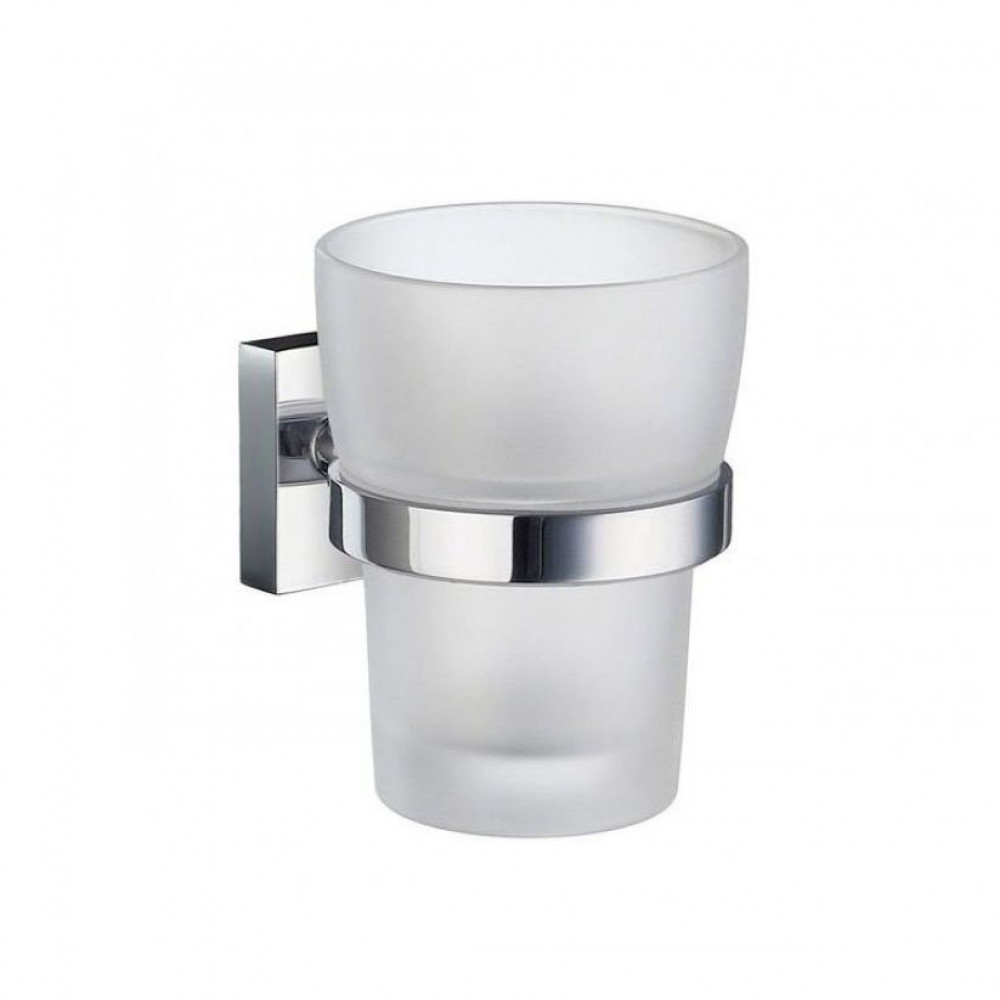 Smedbo House Tumbler Holder With Frosted Glass Tumbler
