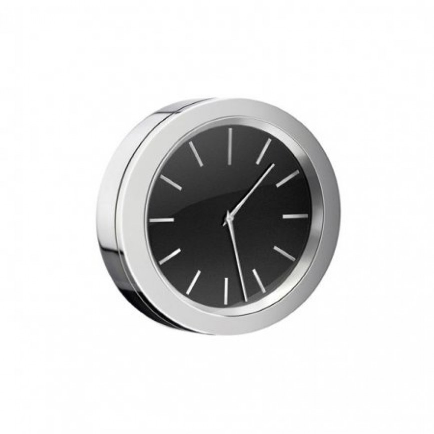 Smedbo Time Chrome and Black 60mm diameter Clock