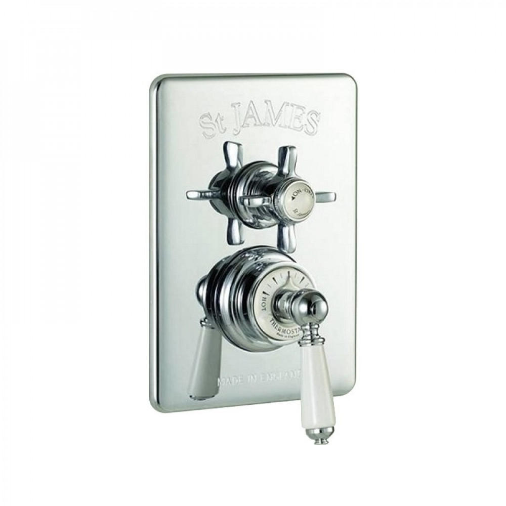 St James Concealed Thermostatic Shower Valve England Handle London Lever