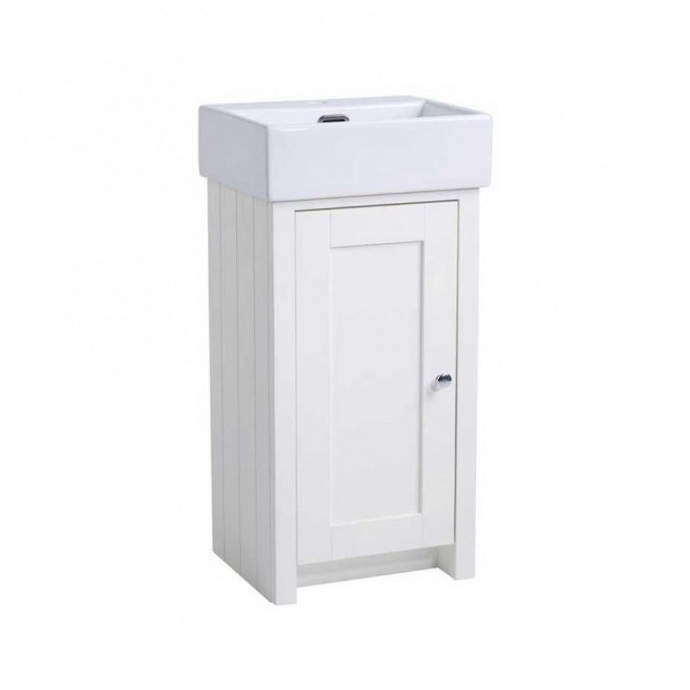 Tavistock Lansdown 400 Cloakroom Unit in Linen White with Basin