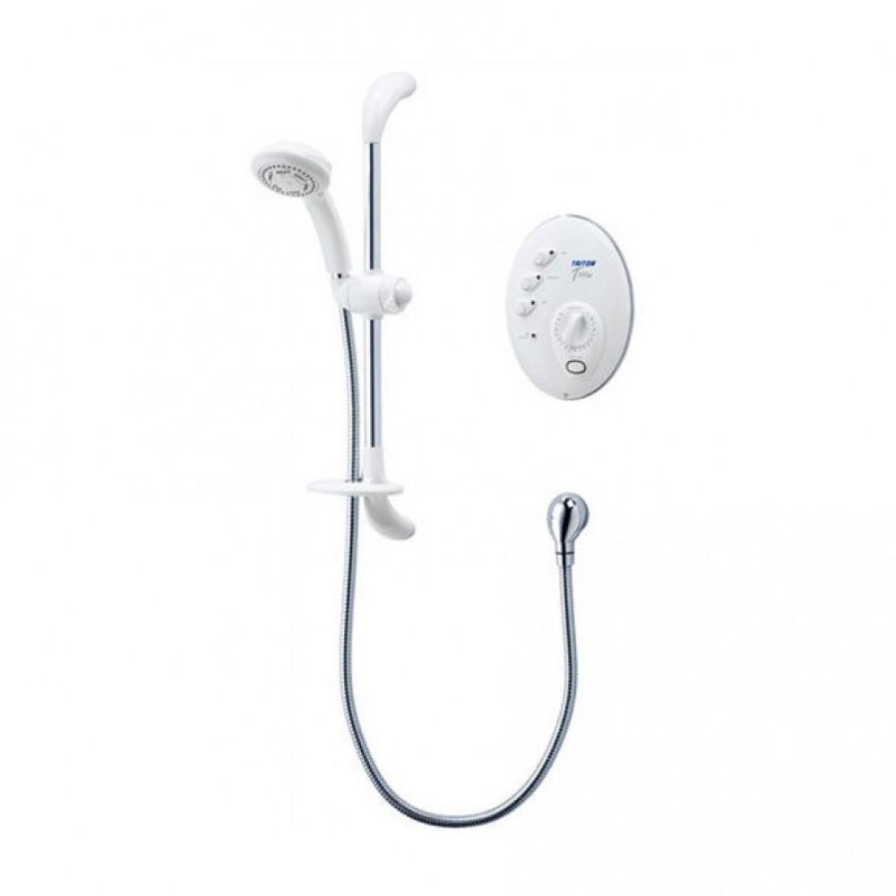 Triton T300si 9.5kw Remote Shower white & chrome