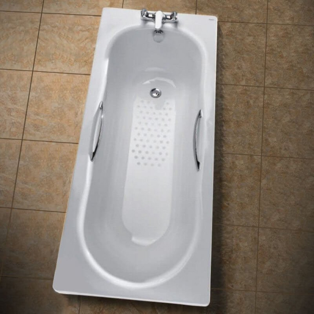 Twyford Celtic Steel Bath 1500 x 700mm slip resistant inc Grips and Legs