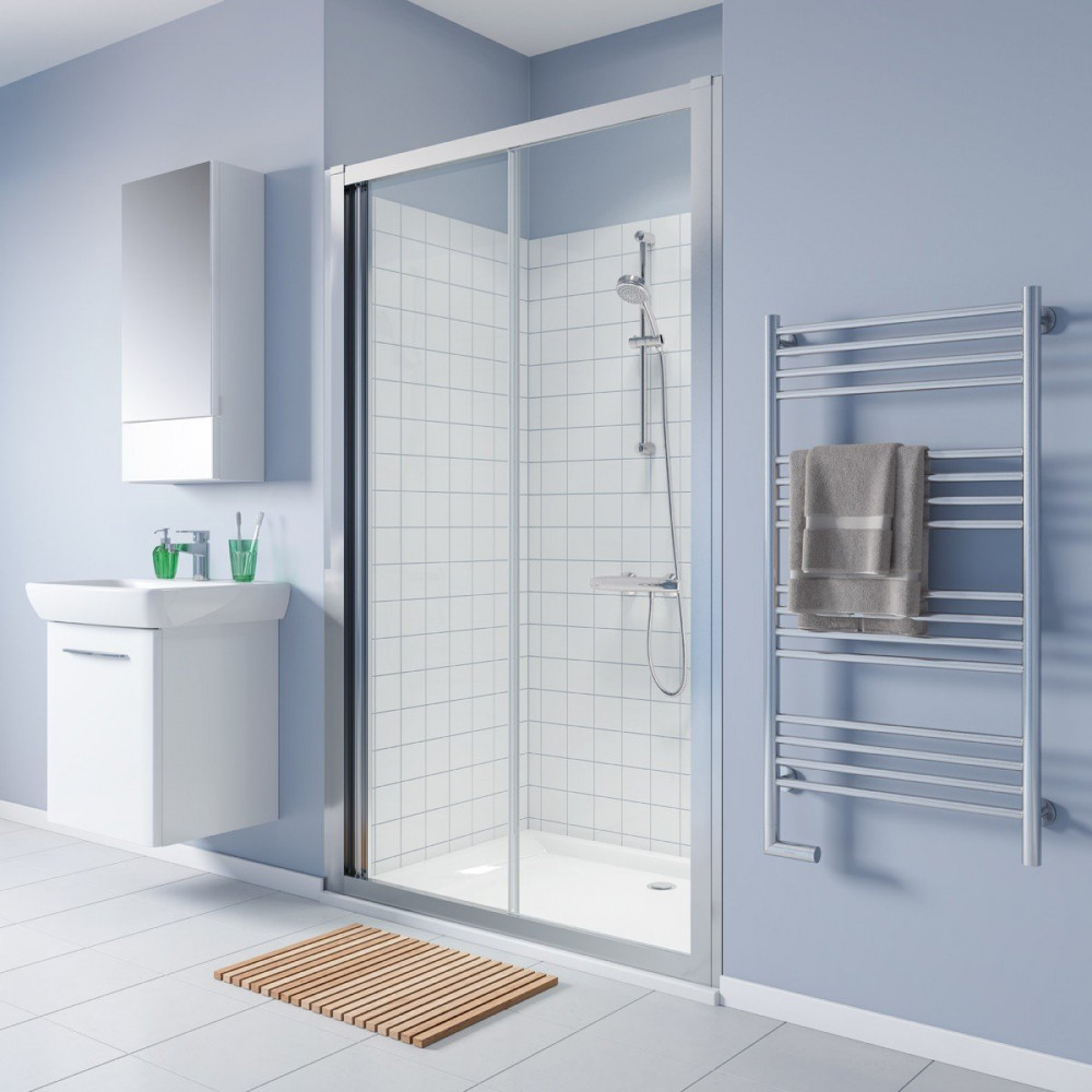 Twyford Geo 1400mm Sliding Shower Door - 6mm Glass-1