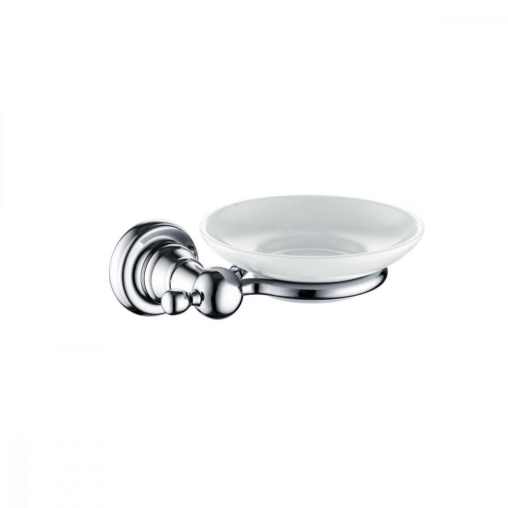 Bristan 1901 Chrome and Ceramic Soap Dish