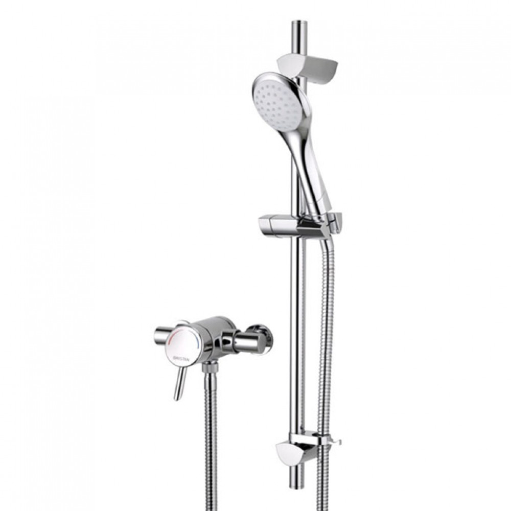 Bristan Acute Thermostatic Surface Mounted Shower with Shower Kit