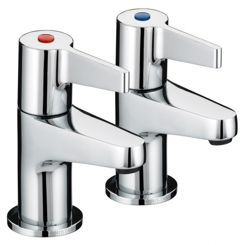 Bristan Design Utility Lever Bath Taps, Chrome Plated