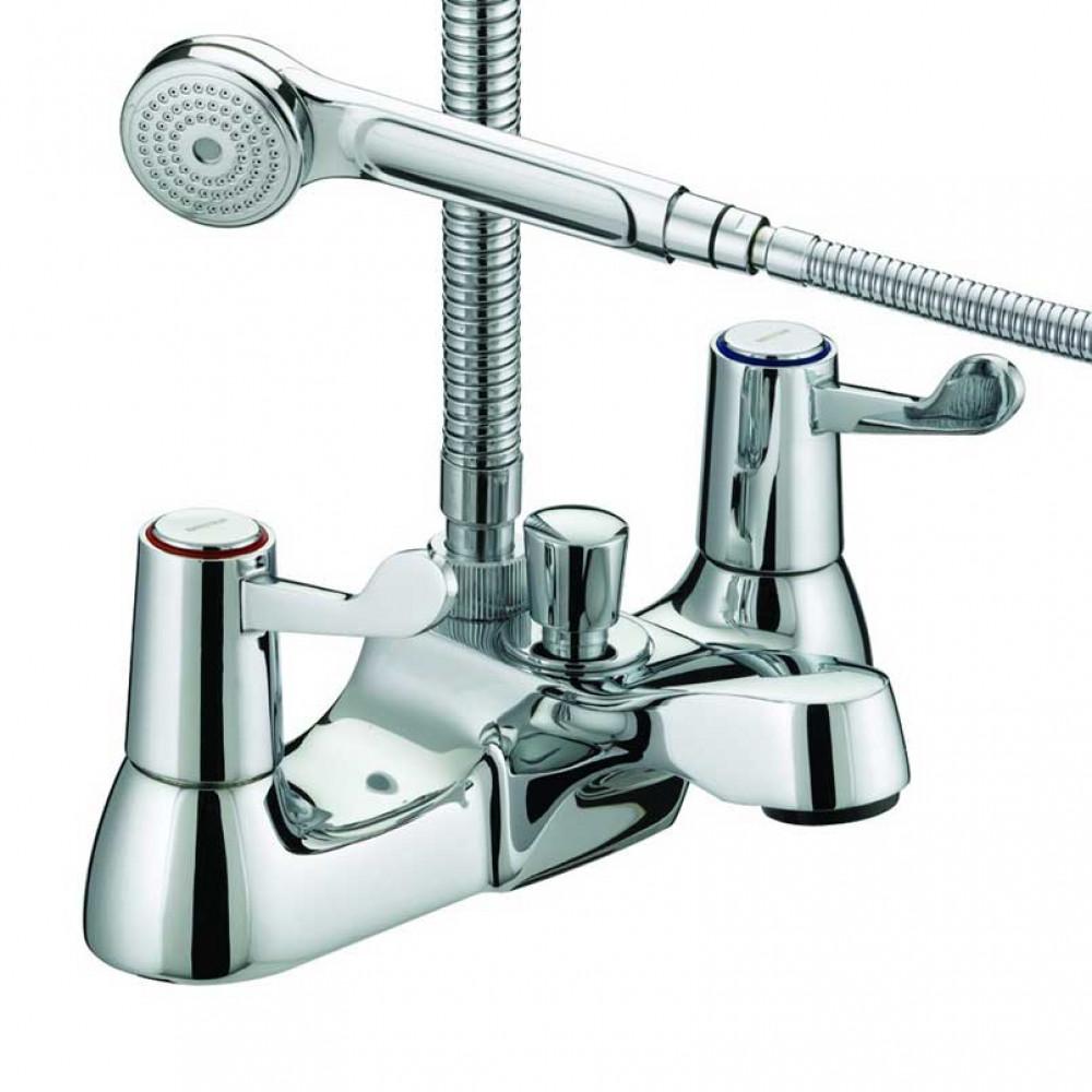 Bristan Value Lever Bath Shower Mixer, Chrome Plated With Ceramic Disc Valves