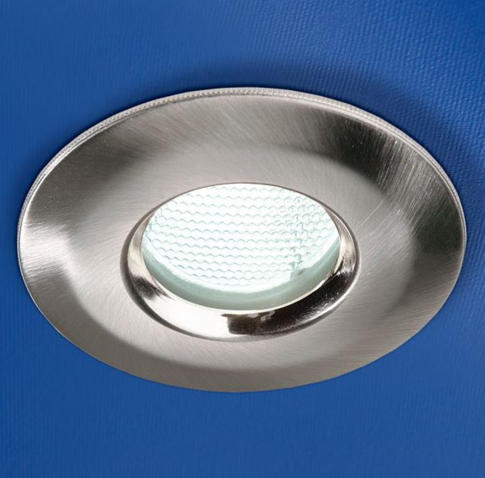 HIB Brushed Chrome Low Energy Fire Rated Showerlight 5730