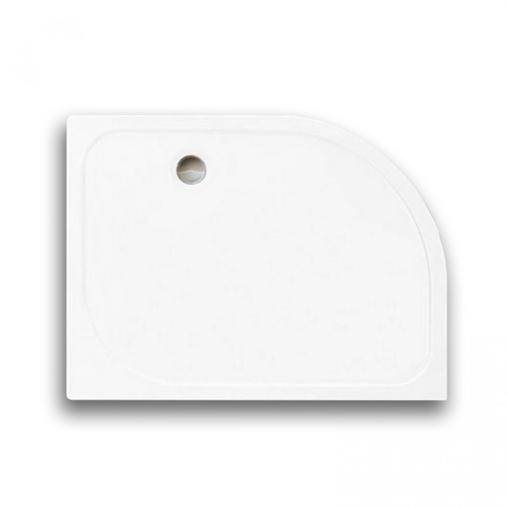 Merlyn M Stone Left Hand Offset Quadrant Tray 1200 x 900mm
