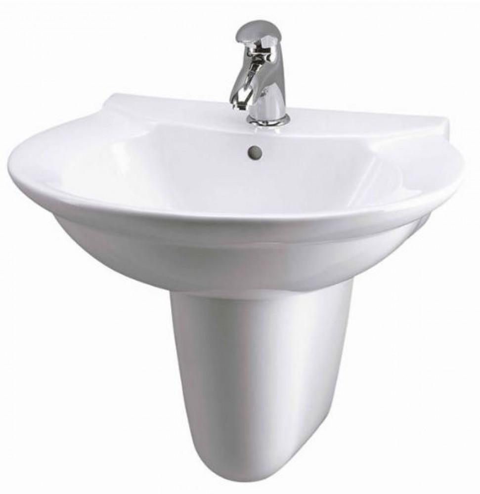 Otley 600mm Basin With Semi Pedestal