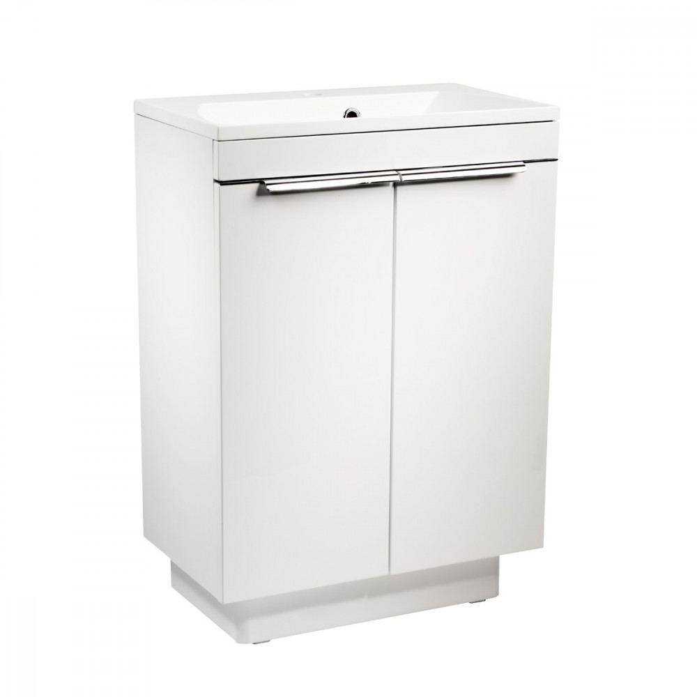 Roper Rhodes Cypher 600mm Gloss White Freestanding Unit with Basin