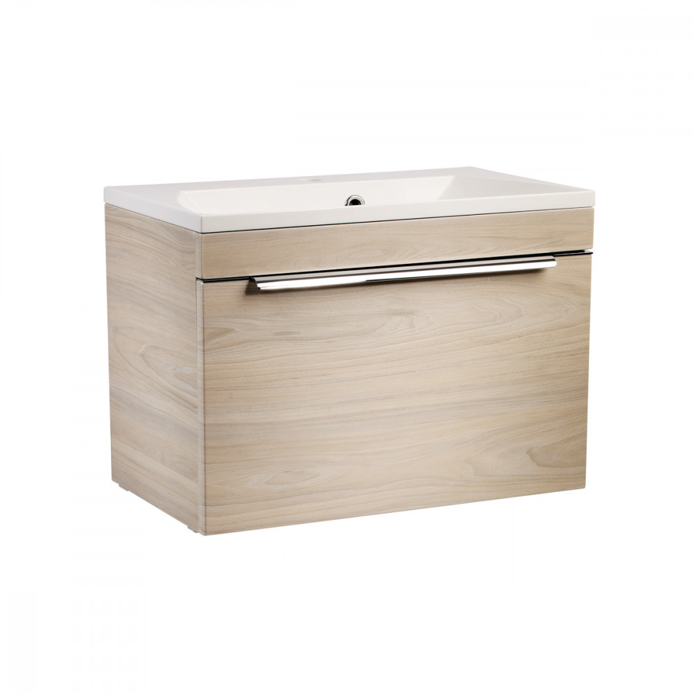 Roper Rhodes Cypher 600mm Light Elm Wall Mounted Unit with Basin