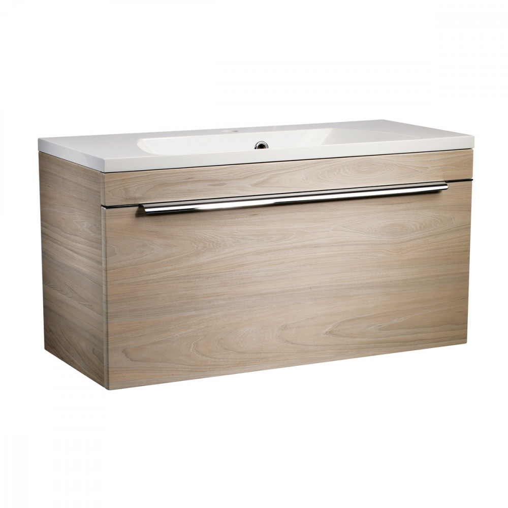 Roper Rhodes Cypher 800mm Light Elm Wall Mounted Unit with Basin