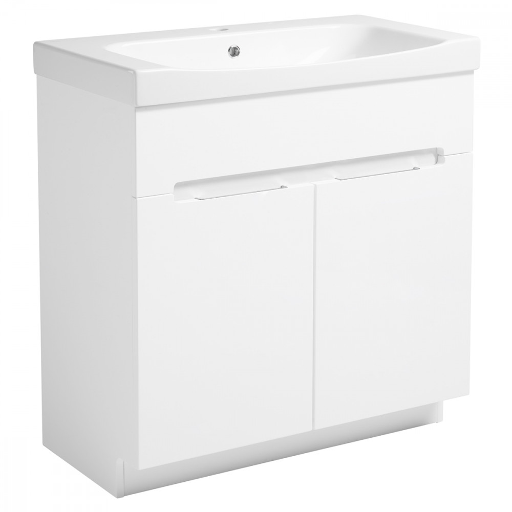 Roper Rhodes Diverge Gloss White 800mm Freestanding Unit with Ceramic Basin
