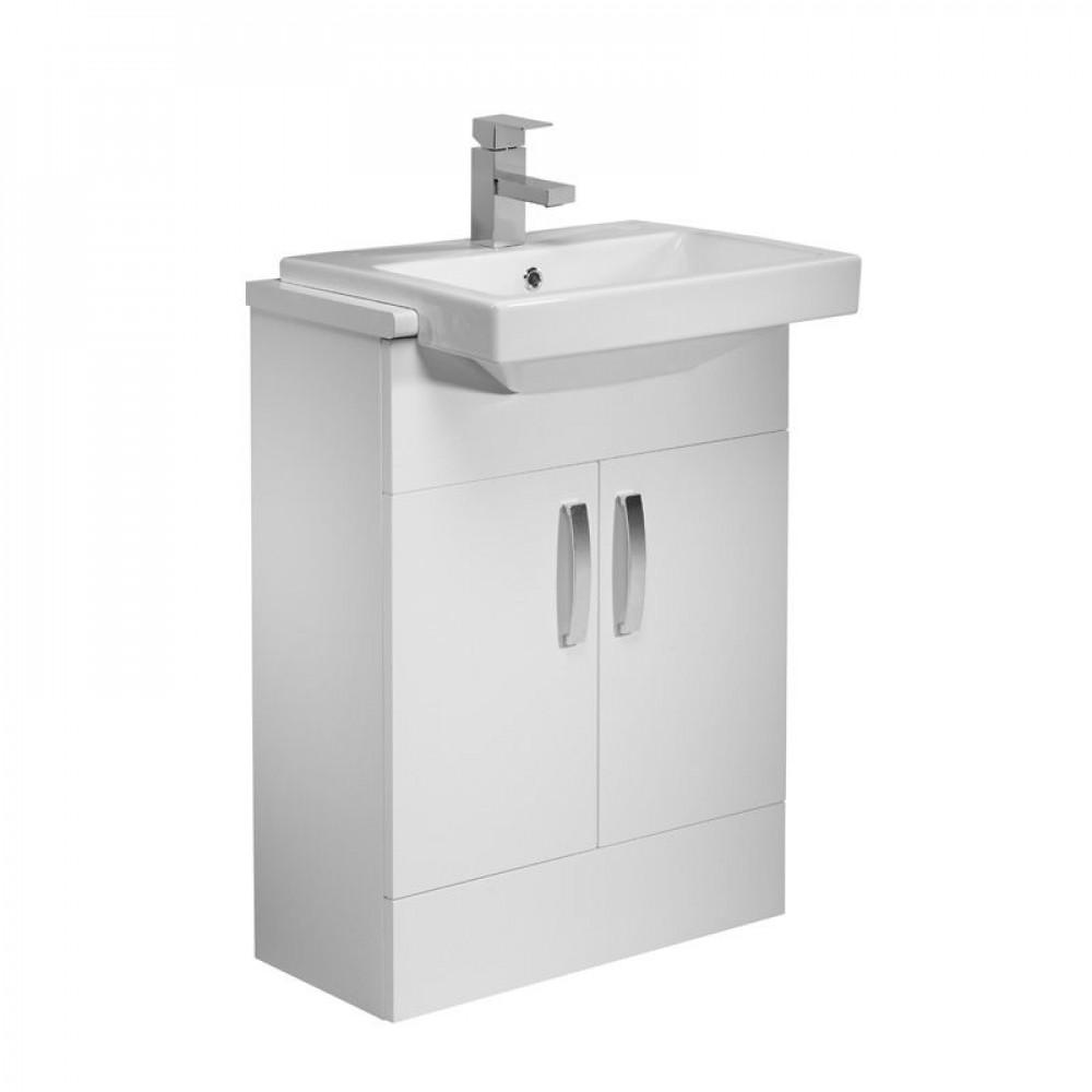 Tavistock Courier 600 Semi Countertop Unit in White with Basin CR6FW & SCSB700S