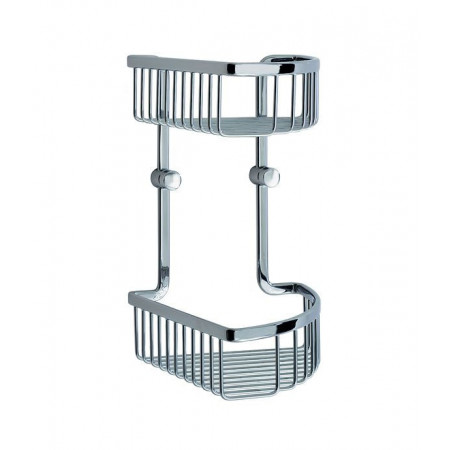 Smedbo Loft Double Corner Shower Basket