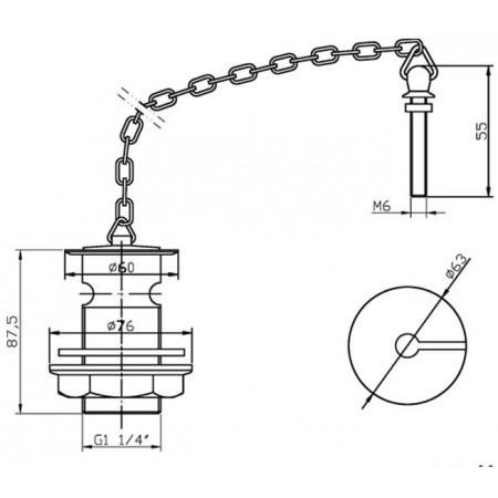 Premier Luxury Basin Waste With Plug & Chain