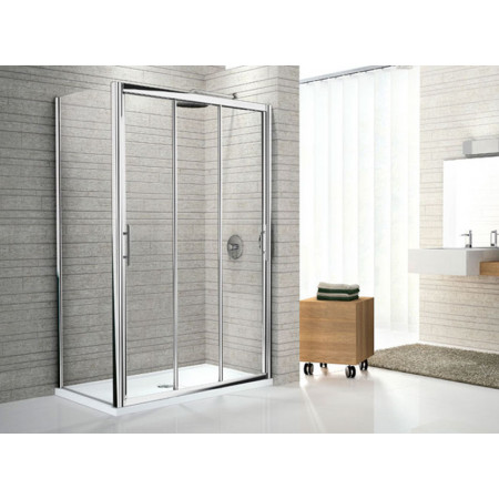 Novellini Lunes 800 Three Section Sliding Shower Doors