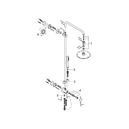 S2Y-Grohe Rainshower 210 Shower System With Diverter For Wall Mounting-4