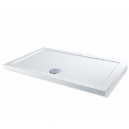 1100mm x 800mm Rectangular Lakes Low Profile Shower Tray & Fast Flow Waste
